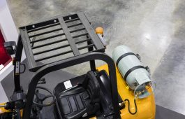The Industrial Forklift truck  ; Seen by Top View